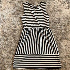 Dresses & Skirts - Black and white striped dress size medium